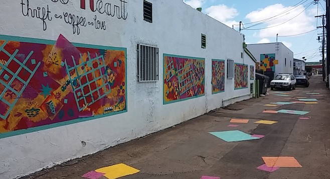 Vicki Leon's murals were the first effort in beautifying the  alley.