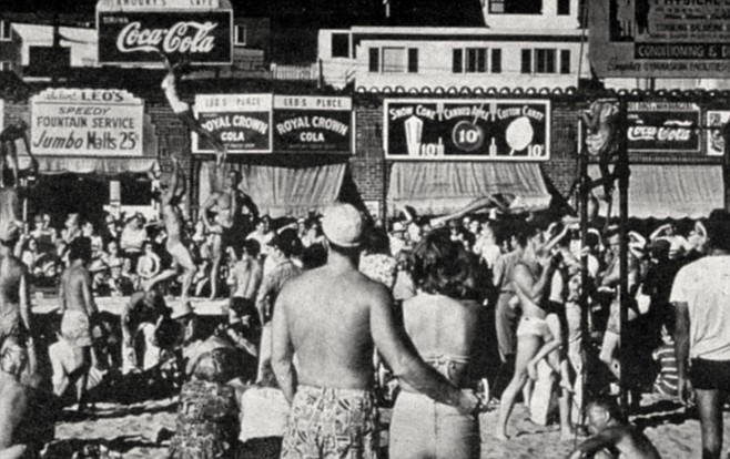 "Muscle Beach. ""When he died, the estate left us 25 or so Max Yavno prints and money to buy our first vault."""