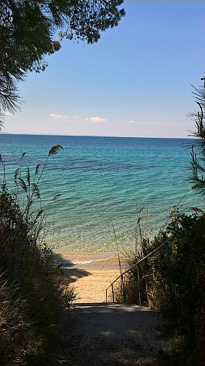 """One of many """"secret"""" beach coves in Sithonia."""