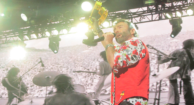 Bad Company's Paul Rodgers impressed the crowd with his impeccable vocals.