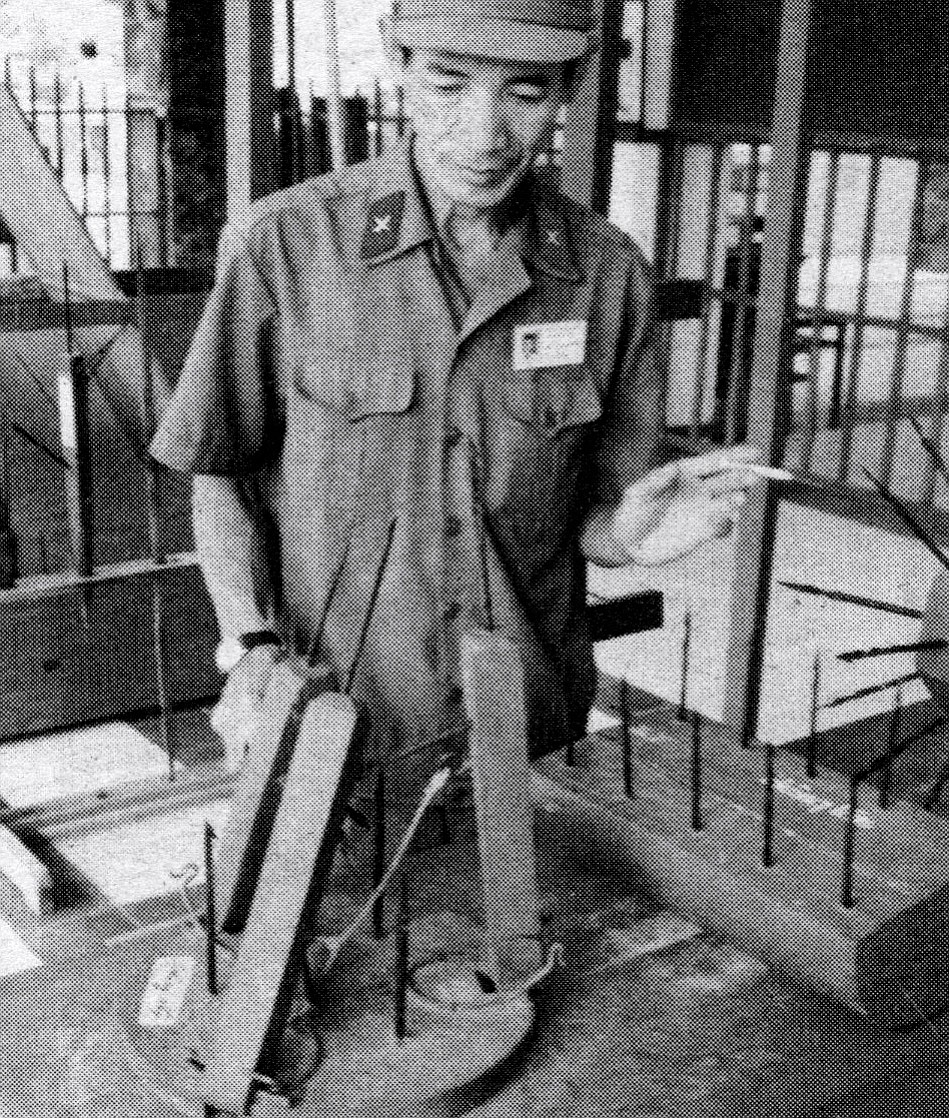 Museum display of Vietcong booby traps used against U.S. soldiers
