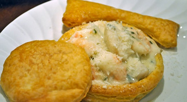 Lobster Newburg in croquettes