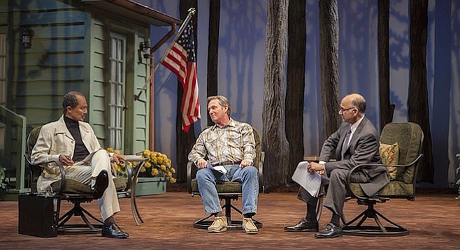 Kahled Nahway, Richard Thomas, Ned Eisenberg in Camp David