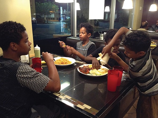 Anas, Adnan, Khalid, Anwar attack their meal