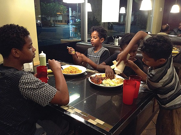 Anas, Adnan, Khalid, Anwar attack their meal