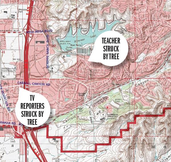 Photo: Eucalyptus crime map | San Diego Reader
