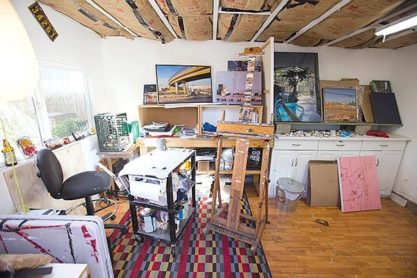 Kim Reasor's studio in Normal Heights