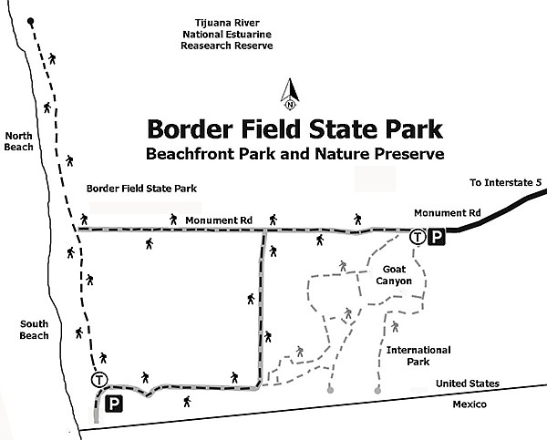 Border Field State Park trail map