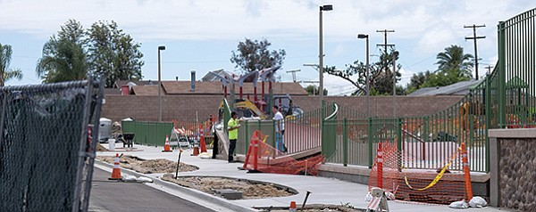 Skateboarder who jumped the fence to skate before construction was done