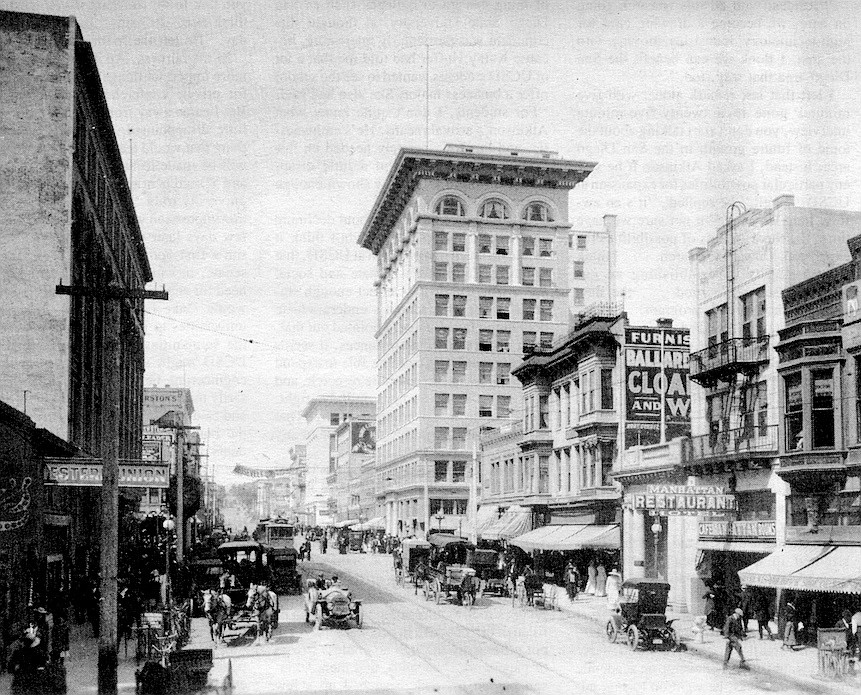 Fifth Avenue north from E Street, 1912. The collection is probably the largest in the country based on a single area — the city and county of San Diego.