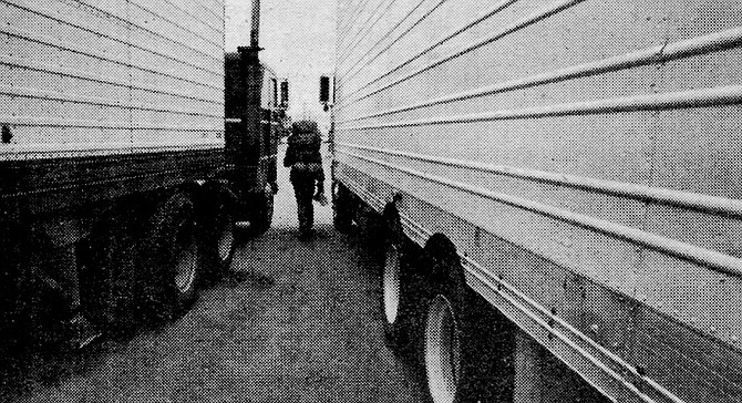 """""""I've got to stay overnight in Tucson before unloading my 18-wheeler, mind if I come by to see what you look like?"""" """"Uh. Okay, Rambling Red. What's your 20?"""" - Image by Robert Burroughs"""