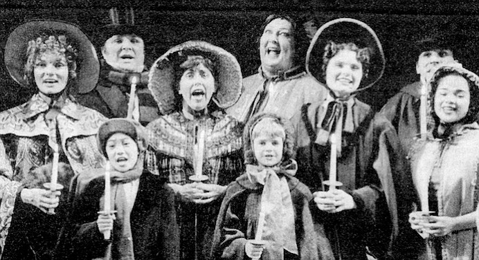 The Rep first offered A Christmas Carol in 1977; now it is now the show people pay to experience year after year. Pictured is 1995 production.