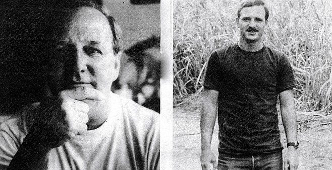 "Steve Fasching today (left), and 30 years ago in Vietnam: ""I felt guilty."""