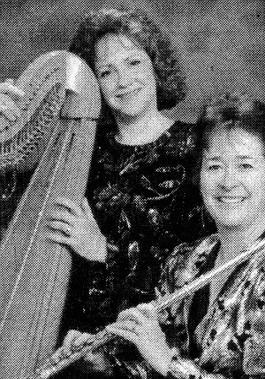 Naomi Alter (harp) and Diana Gee (flute)