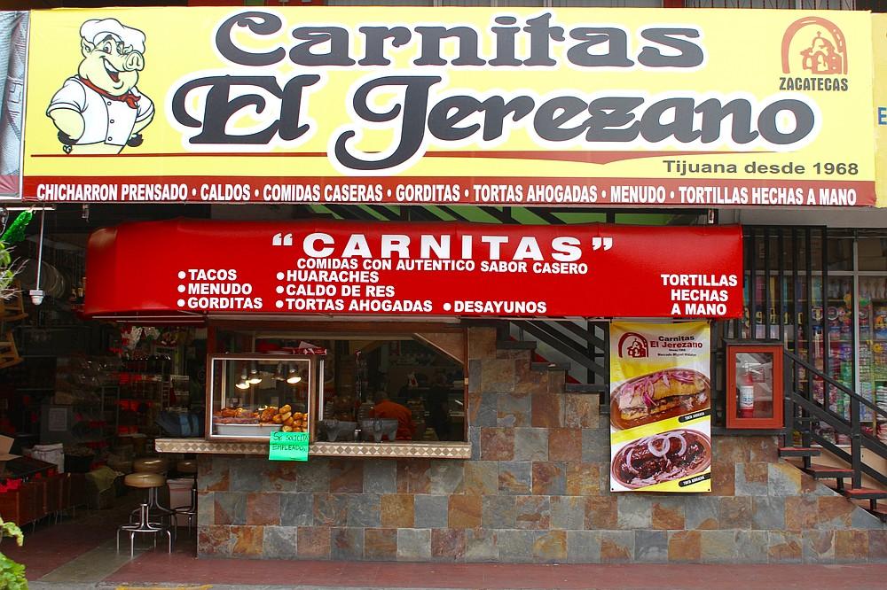 Carnitas el Jerezano inside Mercado Hidalgo