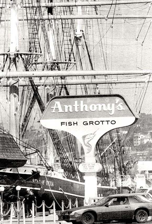 My old Anthony's Fish Grotto is gone. At the counter, with John Keats as company, I used to order the crab-meat salad.