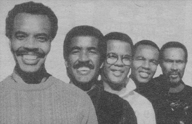 """Mitchell brothers: Andre, Shawn, Marcus, Hawkins, and York. Andre was """"real"""" when he told me I did not know him: and he was generous when he said it did not matter, between us.  - Image by Russ Ando"""