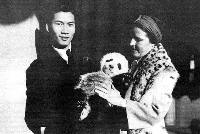 Quentin and Ruth with Diana in Hong Kong, 1938
