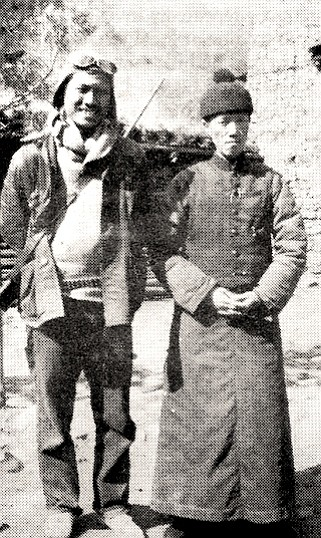 Jack with magistrate in Sikong, 1935