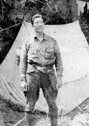 Quentin on panda expedition, 1936
