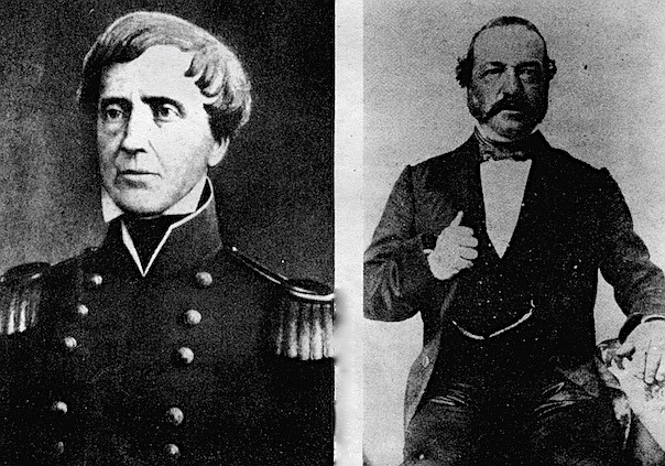 General Stephen Kearny (left) and Andres Pico