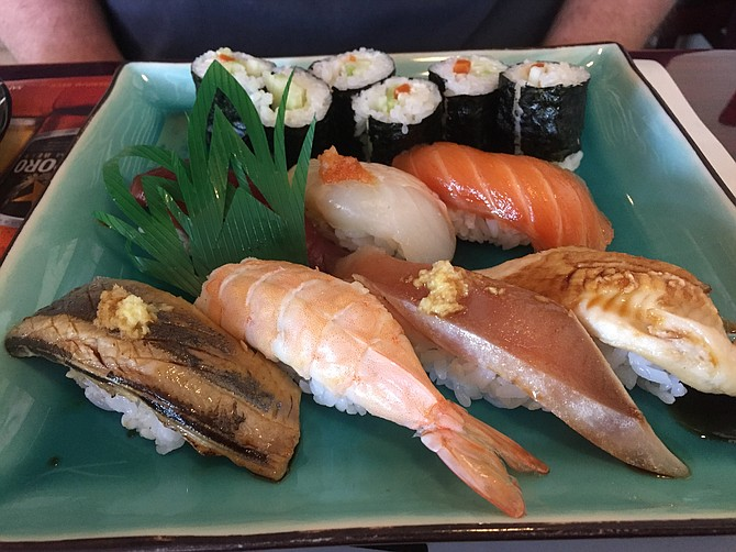 Nigiri sampler, a lovely selection chosen by the chef.