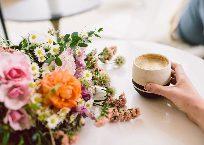 Coffee shops and flower shops are enjoying symbiotic relationships in San Diego. - Image by Meagan Floris