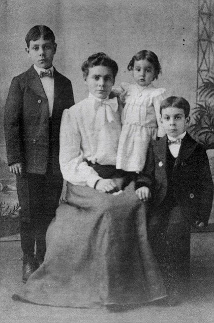 John, Mary, Elsie and C. Arnholt Smith in Walla Walla, Washington. My mother was having trouble with the cold weather there, and my father came down to California and fell in love with the climate and everything,