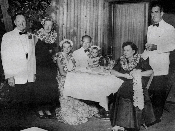 Lois and C. Arnholt Smith (far right) at Kona Kai Club, c.1960. I met my first wife Lois in about 1917. We were in the group that used to go to dances and boating parties.