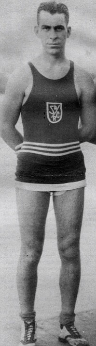 Smith the competitive rower, c. 1920. We'd take our canoes from the rowing club and paddle across the bay, over near the Hotel del Coronado. We'd sit in the canoes and hear the band concert or tie them up and dance a while and then paddle home.