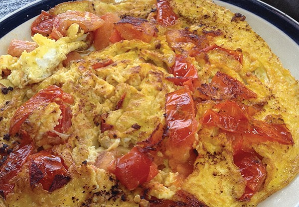 Mary Beth's eggs and tomato