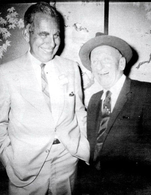 Smith with Jimmy Durante