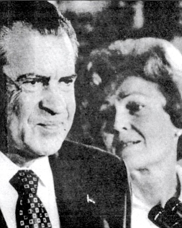 "Richard and Pat Nixon at resignation, August 9, 1974. Smith: ""I think she would have divorced him, if he had not agreed to stay out of politics."""