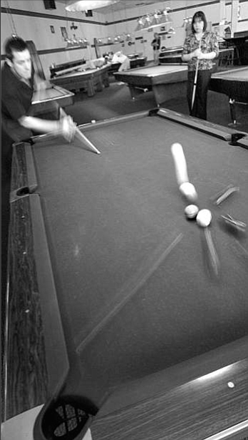On Cue Billiards, La Mesa. The idea of being a road player is sounding more and more dangerous. Manaole agrees, but says there are ways to mitigate the danger.