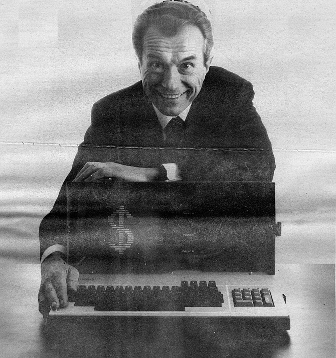 Andy Kay reasoned that a complete microcomputer could be designed to fit into one compact box the size of a portable sewing machine. - Image by Robert Burroughs