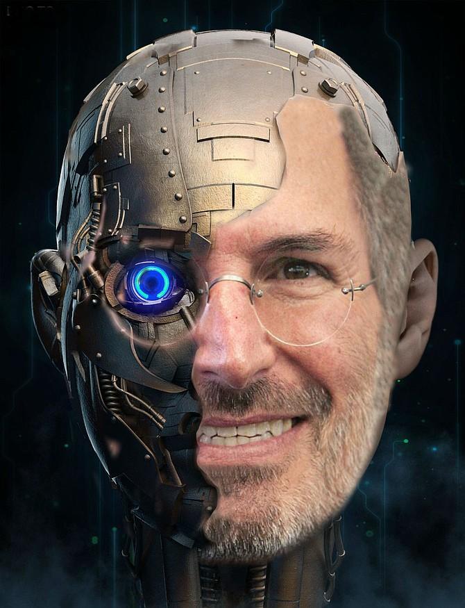 Morph a human skull into a Terminator robot - Photoshop