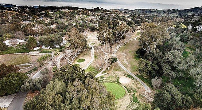 """The greens are better than any of the greens in the valley."" Fallbrook Golf Course on February 8."