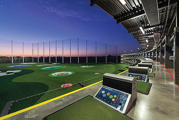 TopGolf, millennials' sort of golf game — accompanied by loud rock and booze