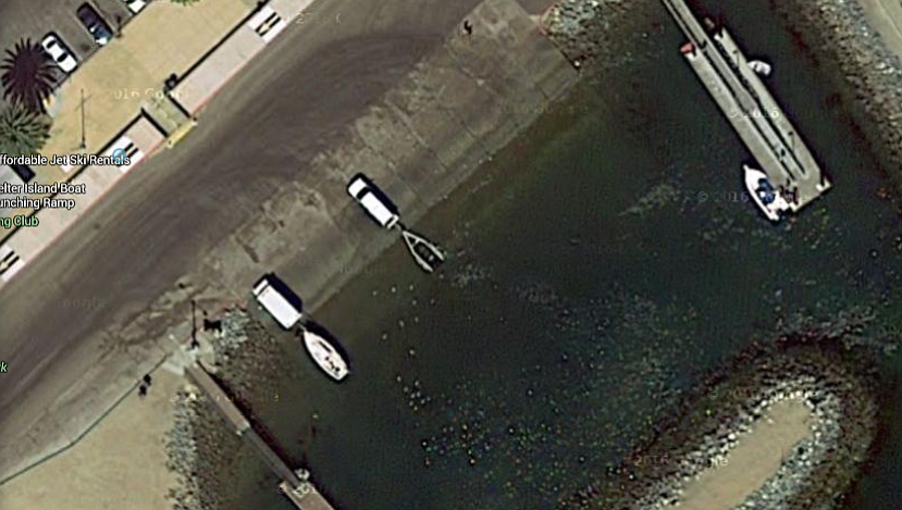 The ramp's poor condition is apparent even in satellite imagery