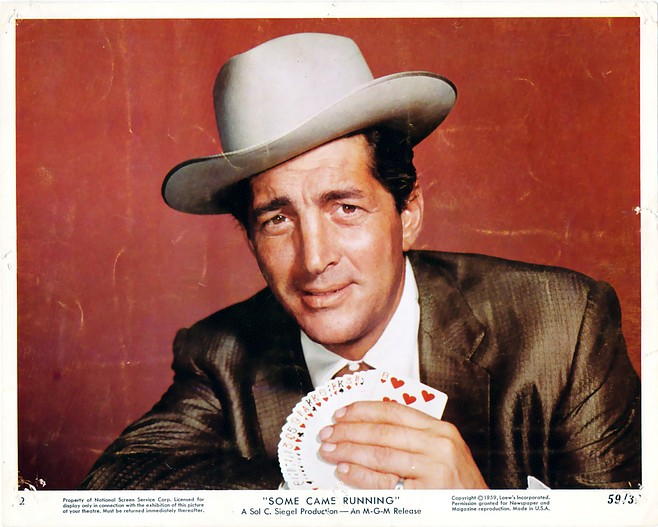 Dean Martin, with hat firmly in place, as Bama Dillert in Vincente Minnelli's Some Came Running