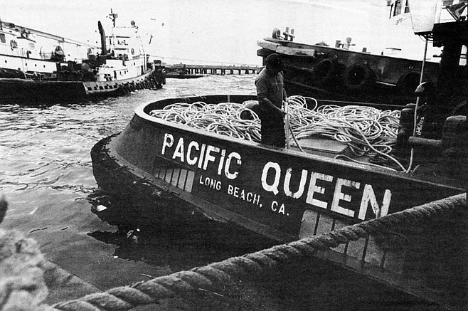 We climb aboard the Pacific Queen. The grit of a tugboat — like a caboose, like a cabin, like a shed — has always called to me.