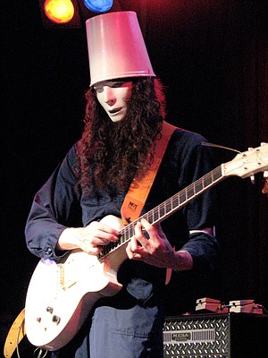Guitar shredder Buckethead jacks in at the Music Box on Tuesday.