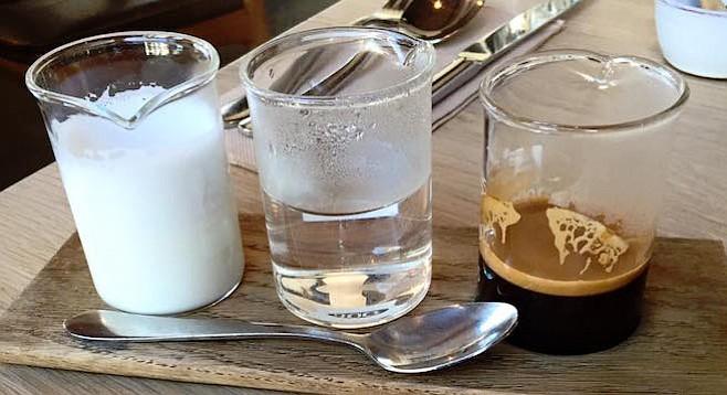 Deconstructed coffee. From Jamila Rizvi's Facebook.