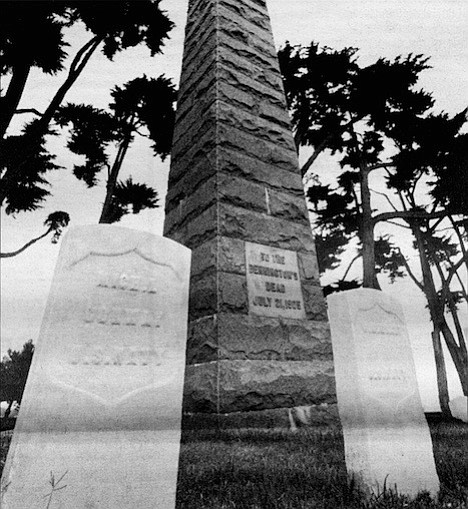 At the time of its construction, the sixty-foot gray granite obelisk monument was the most visible object on Point Loma next to the lighthouse itself.