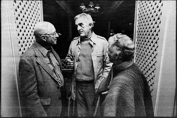 Carl Rogers, Richard Farson; January 1984 - Image by Robert Burroughs