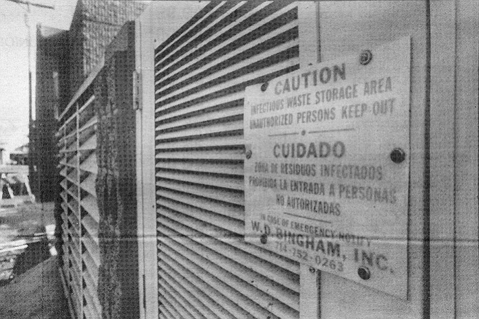 150 West Washington. In February of 1982, however, 16,433 dead fetuses were discovered stored in twenty-foot steel boxes inside a metal shipping container repossessed from a Woodland Hills pathologist.