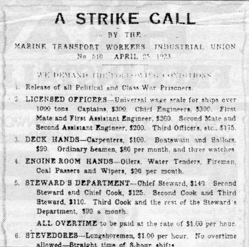 "1923 IWW ad. Most Wobblies, in the words of an unnamed representative, thought it was a ""complete failure and a fiasco in which the organization should have taken no part."""