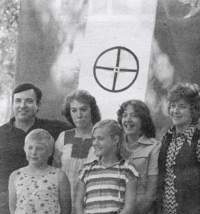 "The Metzger family at Klan picnic, 1979. ""The majority of our family's time was with the movement, or the Klan."""