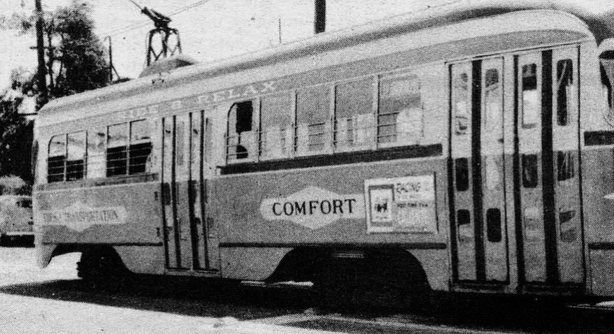April, 1948. In March of 1948 the Spreckels interests agreed on the sale to a company owned by J. L. Haugh of Oakland. Haugh made clear from the outset his intention to carry on with the elimination of the trolley cars.