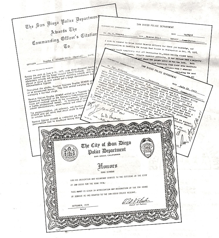 San Diego Police Department awards and commendations